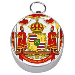Kingdom Of Hawaii Coat Of Arms, 1850 1893 Silver Compasses