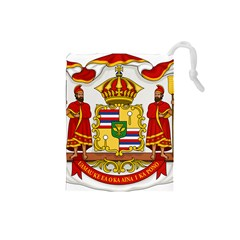 Kingdom Of Hawaii Coat Of Arms, 1850 1893 Drawstring Pouches (small)