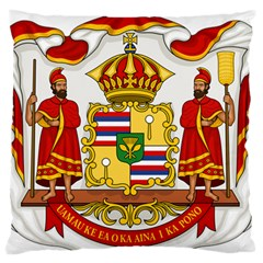 Kingdom Of Hawaii Coat Of Arms, 1850 1893 Large Flano Cushion Case (one Side)