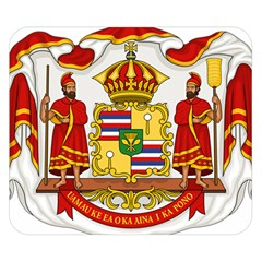 Kingdom Of Hawaii Coat Of Arms, 1850 1893 Double Sided Flano Blanket (small)
