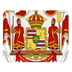 Kingdom Of Hawaii Coat Of Arms, 1850 1893 Double Sided Flano Blanket (large)