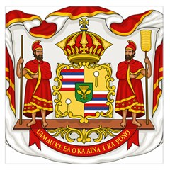 Kingdom Of Hawaii Coat Of Arms, 1850 1893 Large Satin Scarf (square)