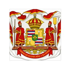 Kingdom Of Hawaii Coat Of Arms, 1850 1893 Small Satin Scarf (square)