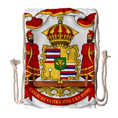 Kingdom Of Hawaii Coat Of Arms, 1850 1893 Drawstring Bag (large)