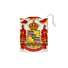 Kingdom Of Hawaii Coat Of Arms, 1850 1893 Drawstring Pouches (xs)