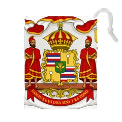 Kingdom Of Hawaii Coat Of Arms, 1850 1893 Drawstring Pouches (extra Large)