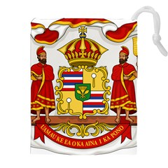Kingdom Of Hawaii Coat Of Arms, 1850 1893 Drawstring Pouches (xxl)