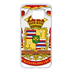 Kingdom Of Hawaii Coat Of Arms, 1850 1893 Samsung Galaxy S7 Edge White Seamless Case