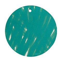 Background Green Abstract Ornament (round)