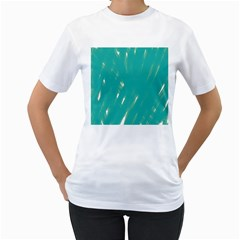 Background Green Abstract Women s T Shirt (white) (two Sided)