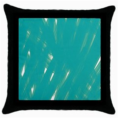 Background Green Abstract Throw Pillow Case (black)