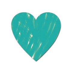 Background Green Abstract Heart Magnet