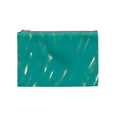 Background Green Abstract Cosmetic Bag (medium)