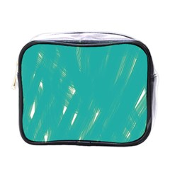 Background Green Abstract Mini Toiletries Bags