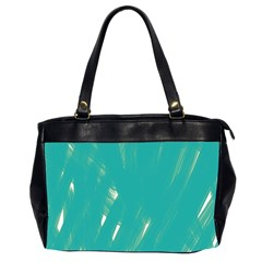 Background Green Abstract Office Handbags (2 Sides)