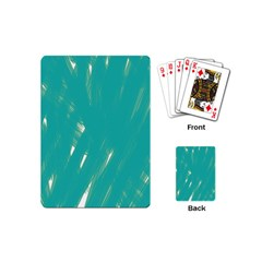 Background Green Abstract Playing Cards (mini)