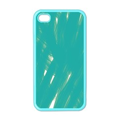 Background Green Abstract Apple Iphone 4 Case (color)