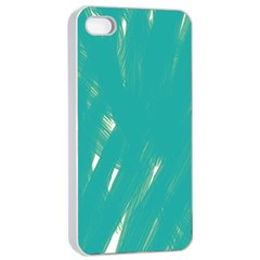 Background Green Abstract Apple Iphone 4/4s Seamless Case (white)