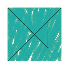Background Green Abstract Acrylic Tangram Puzzle (6  X 6 )
