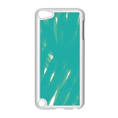 Background Green Abstract Apple Ipod Touch 5 Case (white)
