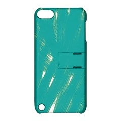 Background Green Abstract Apple Ipod Touch 5 Hardshell Case With Stand