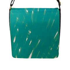 Background Green Abstract Flap Messenger Bag (l)
