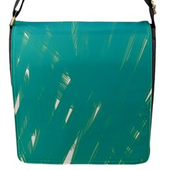 Background Green Abstract Flap Messenger Bag (s)