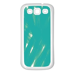 Background Green Abstract Samsung Galaxy S3 Back Case (white)