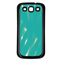 Background Green Abstract Samsung Galaxy S3 Back Case (black)