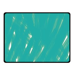 Background Green Abstract Double Sided Fleece Blanket (small)
