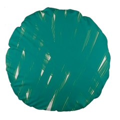 Background Green Abstract Large 18  Premium Flano Round Cushions