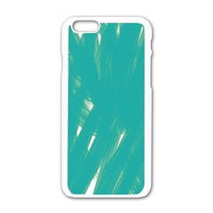 Background Green Abstract Apple Iphone 6/6s White Enamel Case