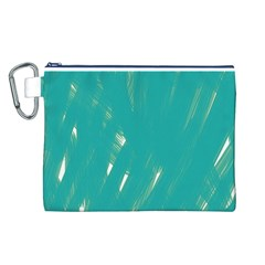 Background Green Abstract Canvas Cosmetic Bag (l)