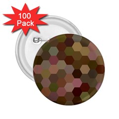 Brown Background Layout Polygon 2 25  Buttons (100 Pack)