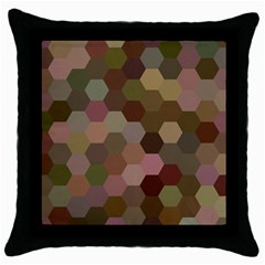 Brown Background Layout Polygon Throw Pillow Case (black)