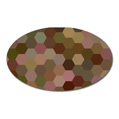 Brown Background Layout Polygon Oval Magnet