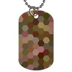 Brown Background Layout Polygon Dog Tag (two Sides)