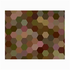 Brown Background Layout Polygon Small Glasses Cloth