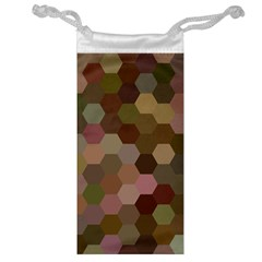 Brown Background Layout Polygon Jewelry Bag