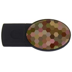 Brown Background Layout Polygon Usb Flash Drive Oval (4 Gb)