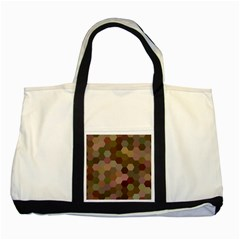 Brown Background Layout Polygon Two Tone Tote Bag