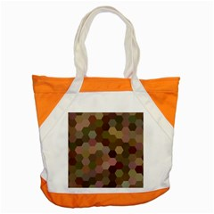 Brown Background Layout Polygon Accent Tote Bag