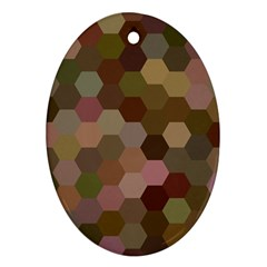 Brown Background Layout Polygon Oval Ornament (two Sides)