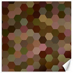 Brown Background Layout Polygon Canvas 12  X 12