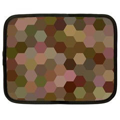Brown Background Layout Polygon Netbook Case (large)