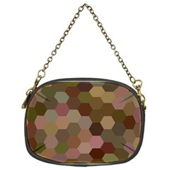 Brown Background Layout Polygon Chain Purses (one Side)