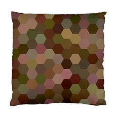 Brown Background Layout Polygon Standard Cushion Case (one Side)