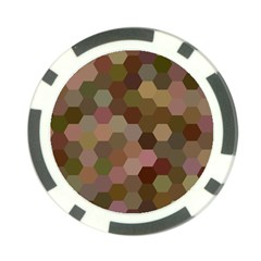 Brown Background Layout Polygon Poker Chip Card Guard (10 Pack)