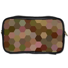 Brown Background Layout Polygon Toiletries Bags