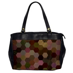 Brown Background Layout Polygon Office Handbags